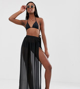 Asos Tall DESIGN Tall recycled maxi chiffon beach sarong