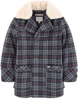 Pepe Jeans Wool coat with a removable collar