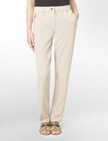 Calvin Klein Exposed Zip Detail Roll-Up Elasticized Waist Pants