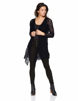 One World ONEWORLD Women's Long Sleeve Lace Hooded Cardigan