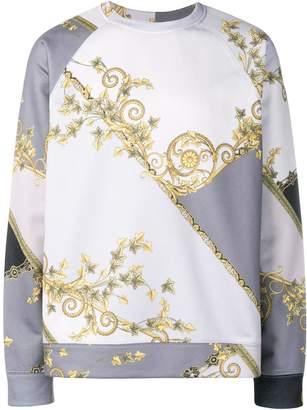 Versace gold leaf print sweatshirt