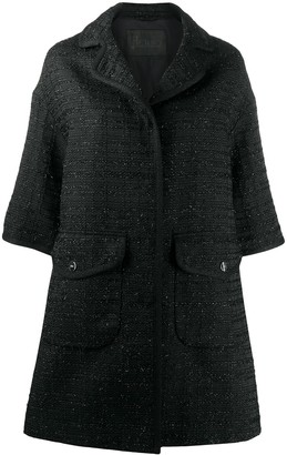 Herno Elbow-Length Sleeved Tweed Coat