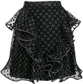 Alberta Ferretti dotted mini skirt
