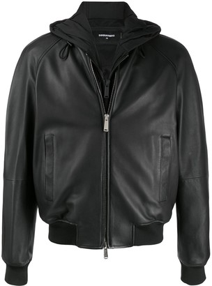 DSQUARED2 Hooded Zip-Up Bomber Jacket