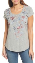 Lucky Brand Women's Floral Embroidered Tee