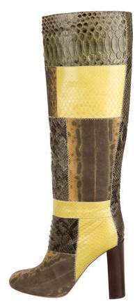 Chloé Python & Karung Boots