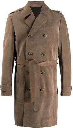 Salvatore Santoro Leather Trench Coat