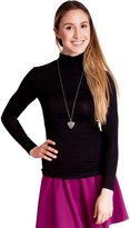 Clothes Effect Ladies Long Sleeve Turtle Neck Top