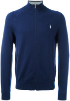 Polo Ralph Lauren embroidered logo zip up cardigan - men - Cotton - M