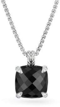 David Yurman Chatelaine? Pendant Necklace with Black Onyx and Diamonds