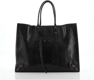 Balenciaga Papier A4 Classic Studs Bag Python