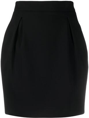 Versace High-Waist Darted Mini Skirt