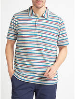 John Lewis Engineered Stripe Polo Shirt, Ecru