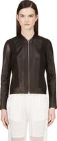 Helmut Lang Black Leather Strip Jacket