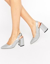 Raid RAID Savannah Gray Slingback Heeled Shoes