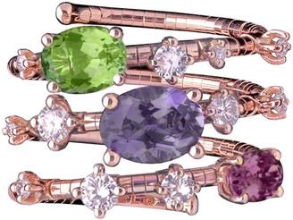 Mattia Cielo 18k Rose Gold Diamond & Mixed-Stone Wrap Ring, Size 6.5-6.75