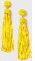 Dorothy Perkins Womens Mustard Beaded Drop Earrings- Yellow