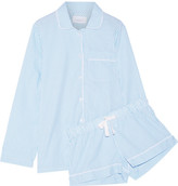 Three J NYC Phoebe Striped Cotton-poplin Pajama Set - Turquoise