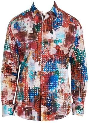 Robert Graham Utopia Textured Abstract Shirt