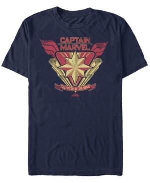 Marvel Men's Captain Protector Chest Logo Short Sleeve T-Shirt