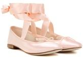 Repetto Anna satin and leather ballerinas
