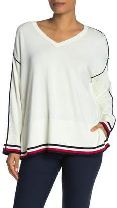 Tommy Hilfiger Drop Shoulder V-Neck Pullover