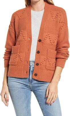 Madewell Zigzag Bobble Cardigan Sweater