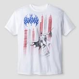 Batman Boys' Americana Graphic T-Shirt - White