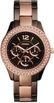 Fossil Women's Stella Two-Tone Stainless Steel Bracelet Watch 38mm ES4079