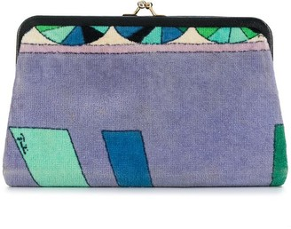 Emilio Pucci Pre-Owned Geometric Print Clutch