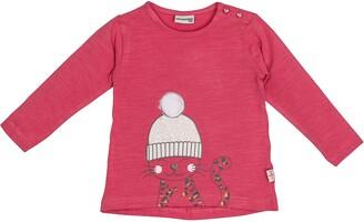 Salt&Pepper Salt and Pepper Baby Girls' Lovely Katze mit Pudelmutze Longsleeve T-Shirt