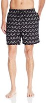Nautica Men's Quick Dry Double Wave Swim Trunk