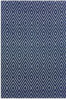Dash & Albert Diamond Rug - Navy/Ivory - 122x183cm