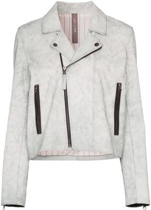 Lot Lthr zipped biker jacket