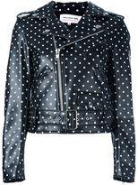 Comme des Garcons polka dot biker jacket