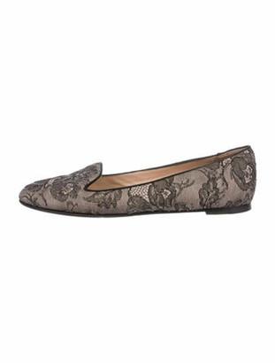 Valentino Lace Embellished Flats Mauve
