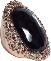 Alexis Bittar Rose gold white quartz hematite ring