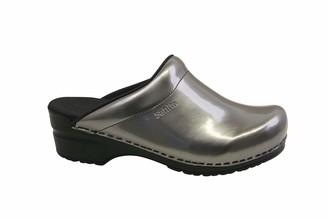 Sanita Patent Mule Clog | Original Handmade Flexible Leather Clog for Women Size: 4 UK