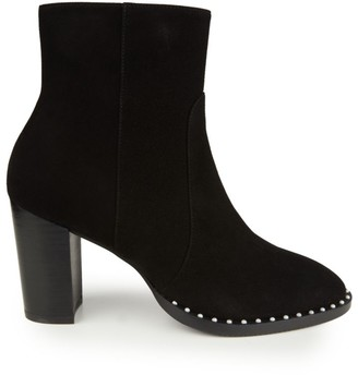 Stuart Weitzman Kailee Faux Pearl-Embellished Suede Ankle Boots