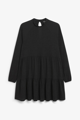 Monki Long-sleeved ruffle dress