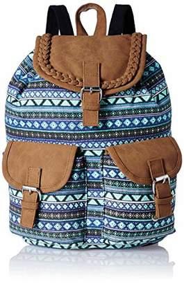 STUDIO 99 Women Crossbody Sling Bag-Boho Canvas and Vegan PU Leather (Tan) ()