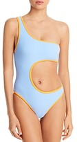Thumbnail for your product : Frankie's Bikinis Cash Terry Cutout One Piece Swimsuit