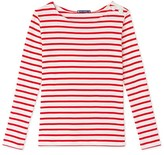 Petit Bateau Womens long-sleeved nautical striped tee