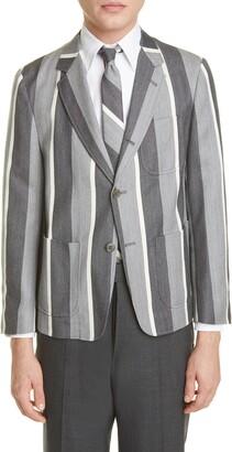 Thom Browne Stripe Wool & Cotton Jacket