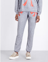 Wildfox Couture Bow print jersey jogging bottoms