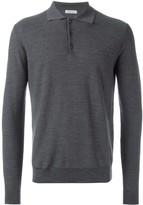 Fashion Clinic Timeless polo collar fine knit jumper