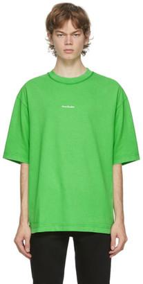 Acne Studios Green Logo T-Shirt