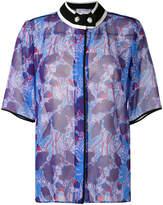 Carven band collar floral print shirt