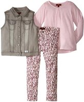 7 For All Mankind The Skinny Stretch Twill Set (Toddler) - Grey - 3T