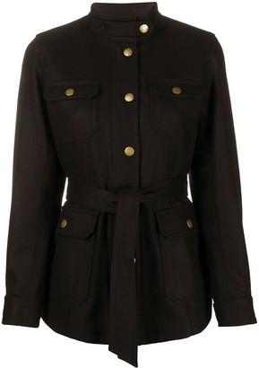 A.P.C. four pocket belted jacket